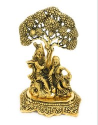 Janmashtmi Gift Gold Plated Radha Krishna Statue