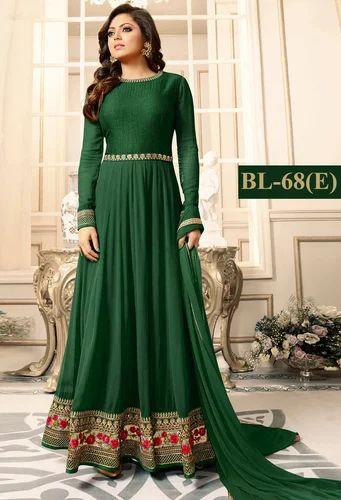22cd6e4b99 Georgette Green Designer Lehnga Suit, Rs 949 /piece, Bipolar Life ...