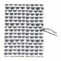 White and Black Handmade Paper File Folder