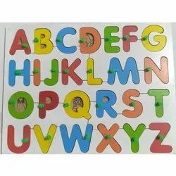 Wooden Alphabet Picture Tray, Child Age Group: 2-4 Years
