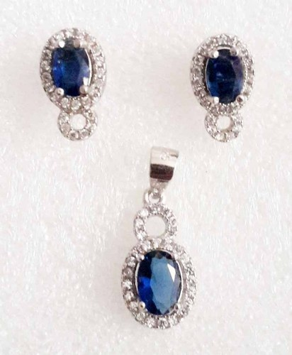 925 Sterling Silver Earring Pendant Ladies Jewelry Set