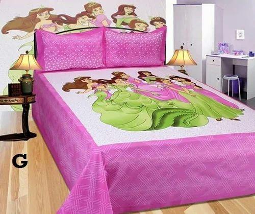 Jaipuri Superhit Barbie Bedsheet King Size Bedsheets