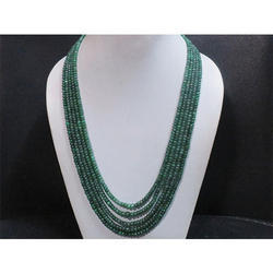 Emerald Gemstone Beaded Necklace