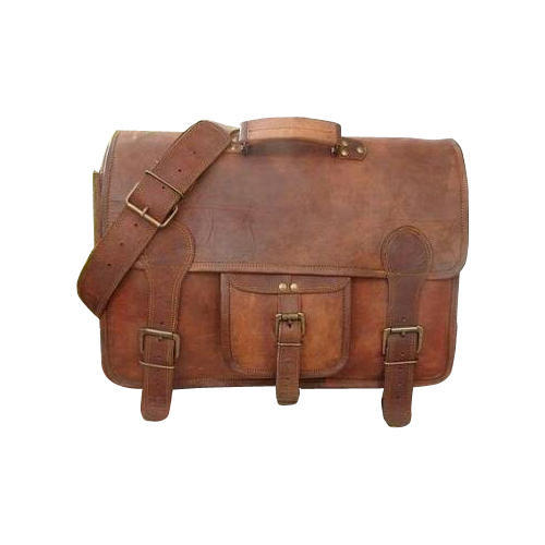 Brown 225 Vintage Brown Leather Messenger Bag