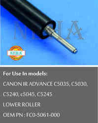 Lower Roller OEM PN : FC0-5061-000 For Use In Models : CANON IR ADVANCE C5035, C5030,C5240, C5045,