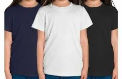 CUSTOM Cotton Girls Half Sleeves Round Neck T-Shirts, Age Group: 6 To 15 Yrs, Quantity Per Pack: 1