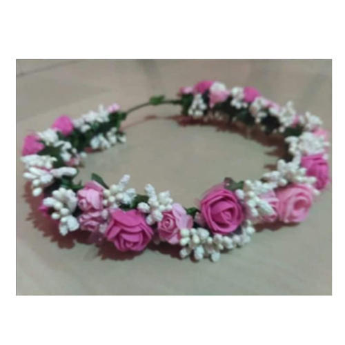 The Hand Krities Pink And White Floral Crown Tiara Rs 199 Piece