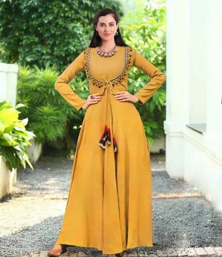 6392990da74 4 Fashion Empire Full Sleeves Casual Long Gown
