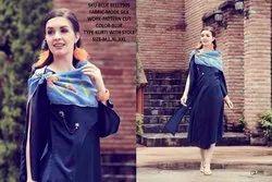 Rachna Bluebell Mode Silk Pattern Cut Kurti with Stole 4