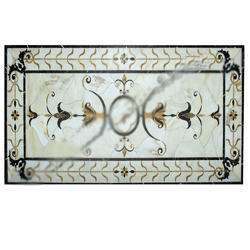 Italian Natural Design Inlay Marble Coffee Table Top