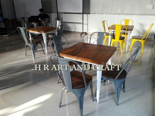 Metal and Wood French Style Cafe Chairs