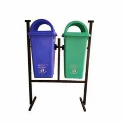 Outdoor Plastic Dustbin With MS Stand