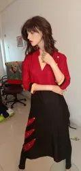 Formal Wear Plain Fancy Rayon Kurti
