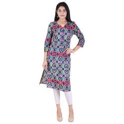 Lavanya Cotton V-Neck Designer Straight Kurti