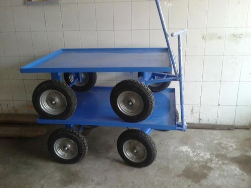 Platfrom Truck with Solid Rubber Wheel