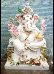 Bal Ganesha Marble Statue