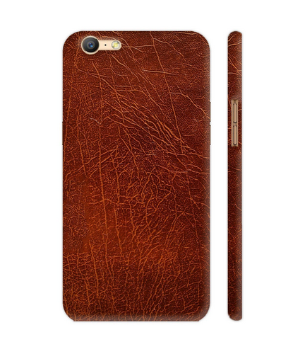 best website 018bf ebf81 Brown Leather Printed Artwork On Oppo A57 Cover