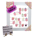 Baby Shower Party Photo Booth Props Wooden Frame