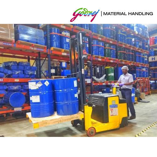 2 Ton Walk Behind Pallet Stacker Electric Forklift Price 1: Godrej 1.2 And 1.5 Ton Counterbalance Stacker