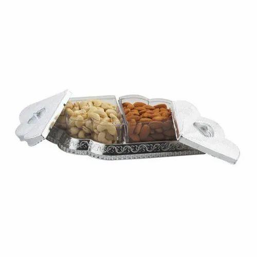 ABS Plastic,Metal Diwali Dry Fruit filled Gift Pack Box
