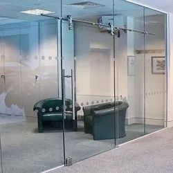 Saint Gobain Hinged Frameless Glass Doors, For Office & Hotel, Thickness: 10mm To 12mm