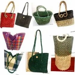Eco Friendly Sabi Grass Bag n Baskets, For Outdoor, Capacity: 11-15 Liters