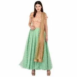 0da5074d4dffc Designer Net Lehenga With Embroidery Backless Choli