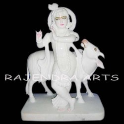 Krishna Statues With Cow
