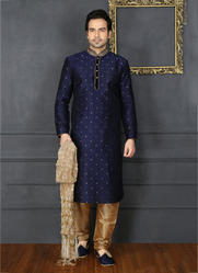 07fbcce1a1 Mens Wedding Wear - Banarasi Silk Churidar Sherwani Manufacturer ...