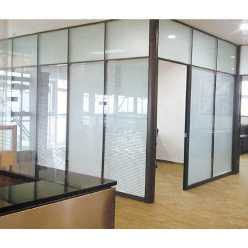 Aluminium Frame Glass Partition at Rs 300 /square feet | Glass ...