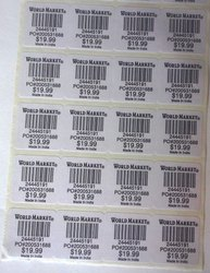 Printed Paper Barcode Label
