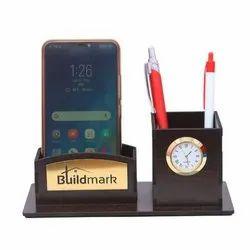 Radhe Handicraft Desktop Wooden Pen Stand, For Office