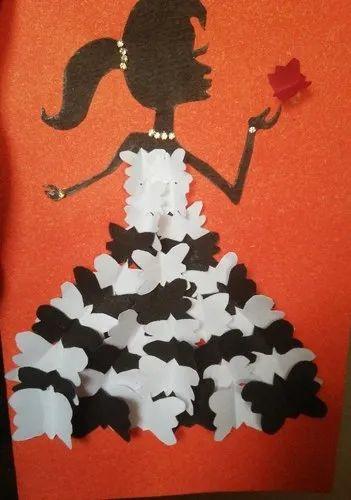 Handmade Birthday Card With A Beautiful Girl