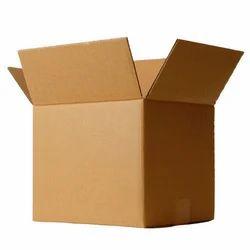 Brown and White Kraft Paper Plain Corrugated Box
