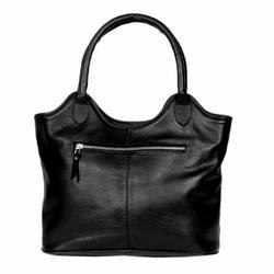 Black Custom Soft Leather Ladies Hand Bag, Pure Leather: Yes