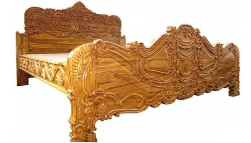 Carved King Size Bed With Teak Wood Vizag Woods