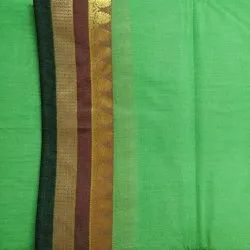 Handloom Poly Cotton Sarees With Blouse, 6 m