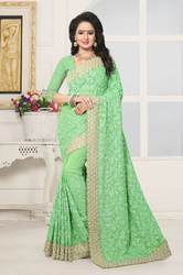 PR Fashion New Heavy Embroidered Designer Saree