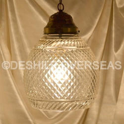 Glass Cutting Hanging Light