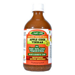 Heart and Diabetic Care Drink - Apple Cider Vinegar, Ginger, Garlic, Lemon, Fenugreek, Honey