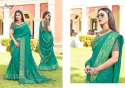 Green Fancy Party Wear Sarees