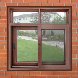 Brown UPVC Combination Window