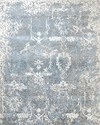 Hand knotted bamboo wool silk rug for living room