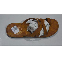 Mens Brown Synthetic Slipper