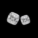 Colorless Cushion Cut Forever Moissanite Stones
