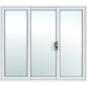 3 Track White Upvc Sliding Door