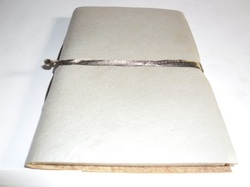 Silver Leather Handmade Journal