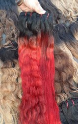 Red Color Virgin Hair Extensions