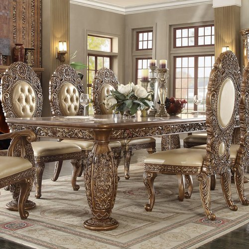Handcarved Wooden Carved 6 Seater Dining Set For Home Id 14643260233
