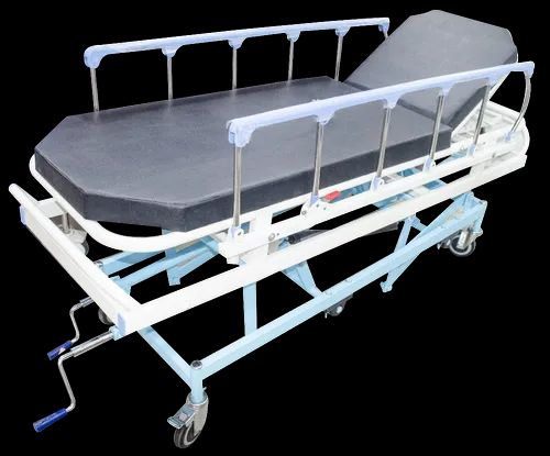 SI Surgical Mild Steel Emergency And Recovery Trolley